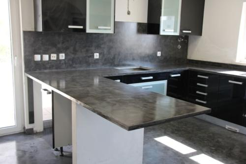 Wall Floor and worktop kitcheen - Microcement Slate 2-min